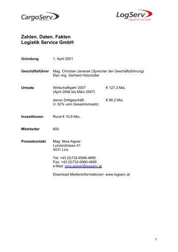 Zahlen. Daten. Fakten Logistik Service GmbH
