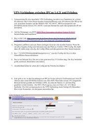 VPN-Verbindung zwischen IPCop 1.4.21 und Fritzbox - IPCop-Forum
