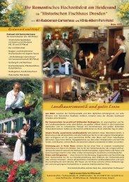 Ihr Romantisches Hochzeitsfest im Historischen Fischhaus Dresden