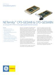 NETernity™ CP3-GESW8 & CP3-GESW8N - Acal Technology