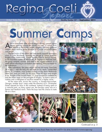 Summer Camps - Society of St. Pius X