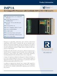 Product Information IMP1A 3U CompactPCI ... - Acal Technology