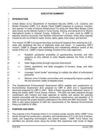 EXECUTIVE SUMMARY 1 INTRODUCTION 2 3 United ... - CBP.gov