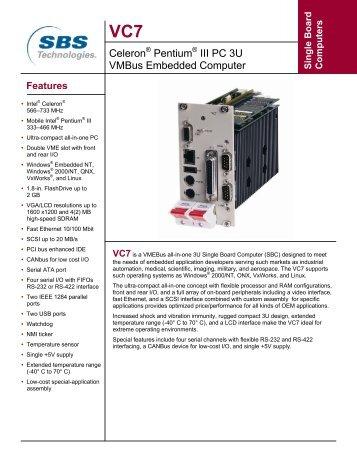 Celeron® Pentium® III PC 3U VMBus Embedded ... - Delvingware