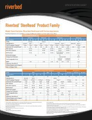 Riverbed® Steelhead® Product Family