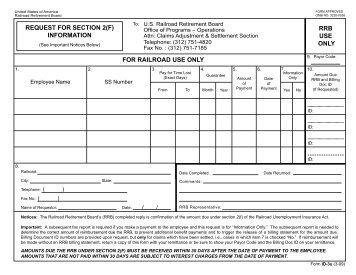 ID-3u - U.S. Railroad Retirement Board