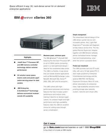 IBM xSeries 360 - Gebruikte servers