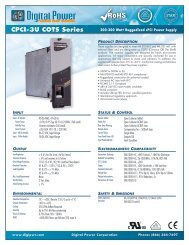 TELKOOR CPCI-AC-3U-250  Power Supply  CPCI-3U-250