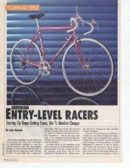 ENTRY-LEVEL RACERS - Sheldon Brown