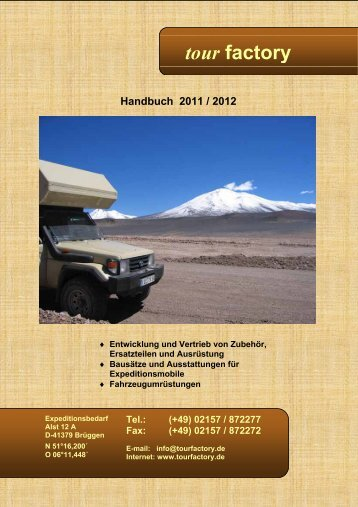 02157 / 872277 Fax - Tourfactory