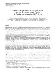 Streeter CC, Effects of yoga versus walking on - Meagher Lab