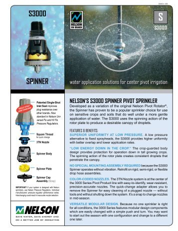 S3000 Spinner Literature - Nelson Irrigation