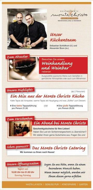 Sebastian Schildhorn - Monte Christo Tapas Bar