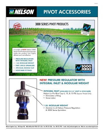 Pivot Accessories Literature - Nelson Irrigation