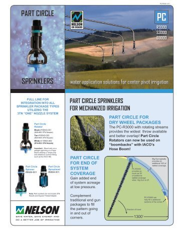 PART CIRCLE SPRINKLERS - Nelson Irrigation