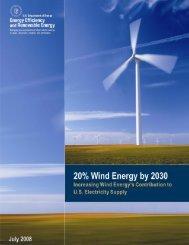 20% Wind Energy by 2030: Increasing Wind Energy's ... - NREL