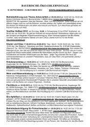 BAYERISCHE-ÖKO-ERLEBNISTAGE - Bio-Ring Allgäu e.V.