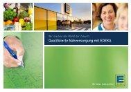 Qualifizierte Nahversorgung mit EDEKA - EDEKA Gruppe