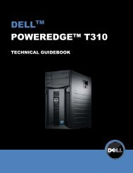 PowerEdge T310 Technical Guidebook - Dell
