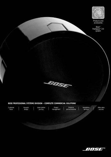 FreeSpace 3 Series II System - Flush Mount - Tech Data ... - Bose