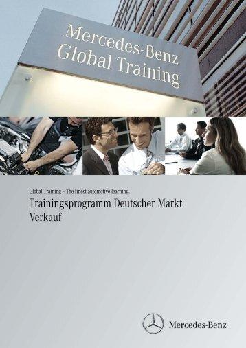 Trainingsprogramm Deutscher Markt Verkauf - Daimler
