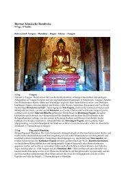 Klassische Rundreise Burma - 9 Tage / 8 Nächte - ETC Reisen