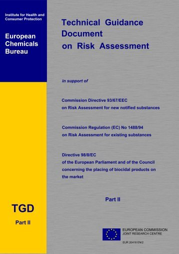 technical guidance documents - Institute for Health and Consumer ...