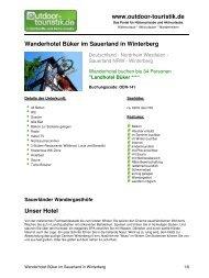 Wanderhotel Büker im Sauerland in Winterberg - Outdoor-Touristik