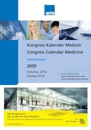 Kongress Kalender Medizin Congress Calendar ... - Spitta Verlag