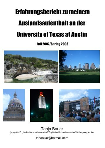 Erfahrungsbericht zu meinem Auslandsaufenthalt an ... - International