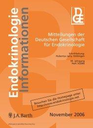 November 2006 - Deutsche Gesellschaft für Endokrinologie