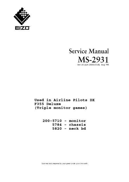 Service Manual - Arcade Otaku Wiki