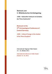 Abstracts to the 4th Archaeological Conference of Central Germany ...