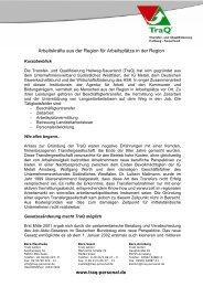 Geschichte der TraQ - Transfer- und Qualifizierung Hellweg ...