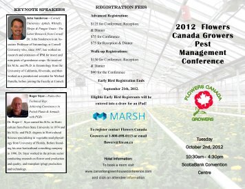 2012 Flowers Canada Growers Pest Management Conference
