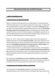 Wesentliche Inhalte des Job-AQTIV-Gesetzes I. Aktive ...