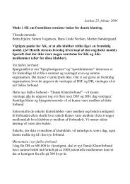 Aarhus 23. febuar 2004 Møde i ÅK om fremtidens struktur inden for ...
