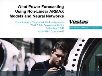 Wind Power Forecasting Using Non-Linear ARMAX Models and ...
