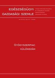 A magyarországi gyógyszer- nagykereskedelem ... - Weborvos