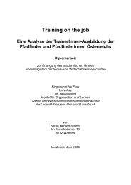 Training on the job - Pfadfinder und Pfadfinderinnen Österreichs