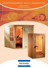 Infrarot-Wärmekabinen, Sauna & Dampfduschen - LSI