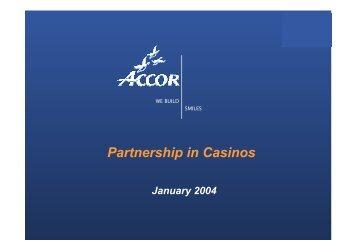 Partnership in Casinos