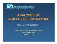 analyses of sealer - rejuvenators - Conference Planning and ...