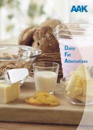 DFA in dairy applications - AAK