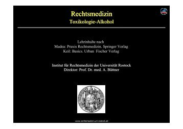 Forensische Toxikologie Alkohol - Institut für Rechtsmedizin ...