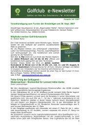 Newsletter Juli 2007 - Golfclub am Meer
