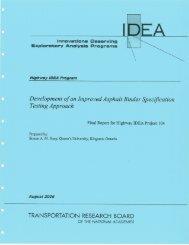 Development of an Improved Asphalt Binder Specification ...