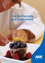 Fats for Chocolate and Confectionery - AAK