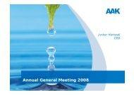 Annual General Meeting 2008 - AAK