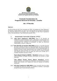 Comissão Coordenadora do Programa Nacional de Florestas ...